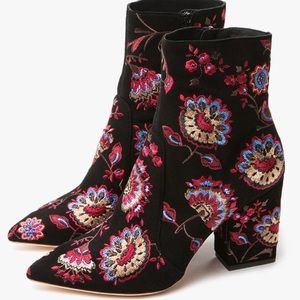 Loeffler Randall embroidered Isla boots
